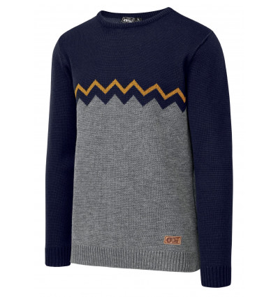 Pull Knitter Picture (A Grey Melange)