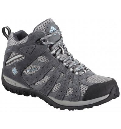 Chaussures Mi-Montante Imperméables Columbia Redmond Femme (light grey/sky blue)