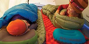 Sleeping bag mattress